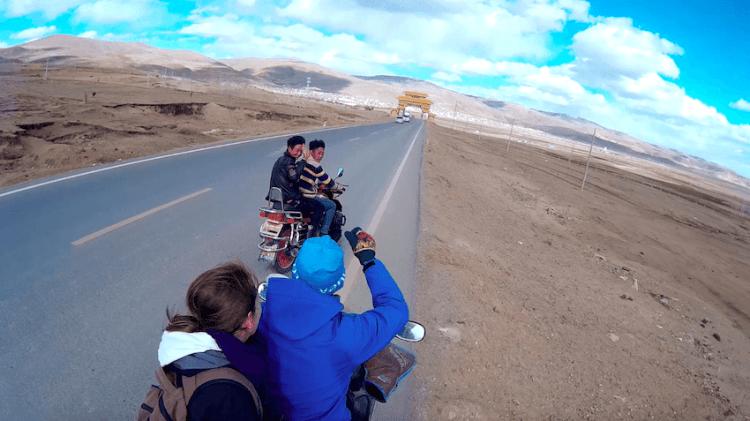 Motorcycle Litang Tibet China