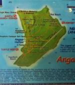 Angaur diving map in Palau