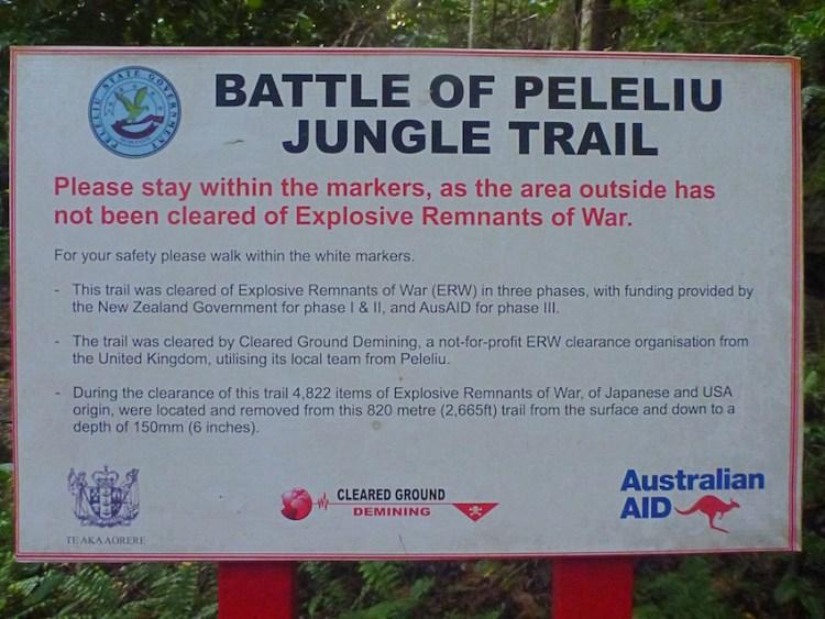 Minas e explosivos em Peleliu Palau