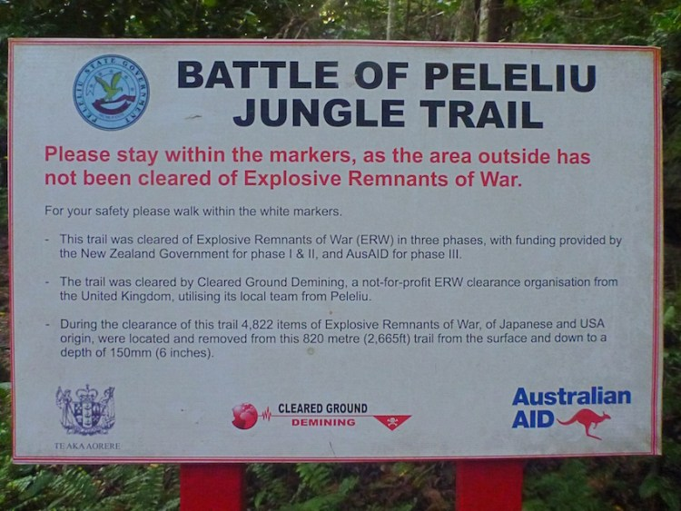 Mines and Explosives Peleliu Palau