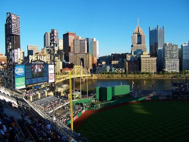 Vista de dentro do PNC Stadium Pittsburgh