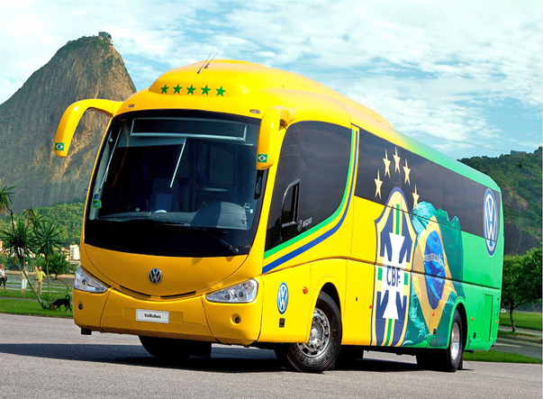 Brazil Football Team Bus