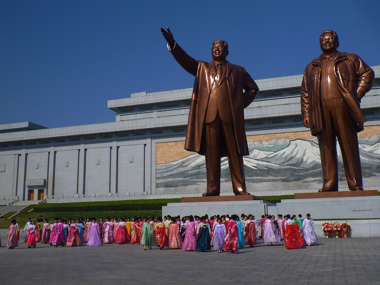 Statues of North Korean Leaders