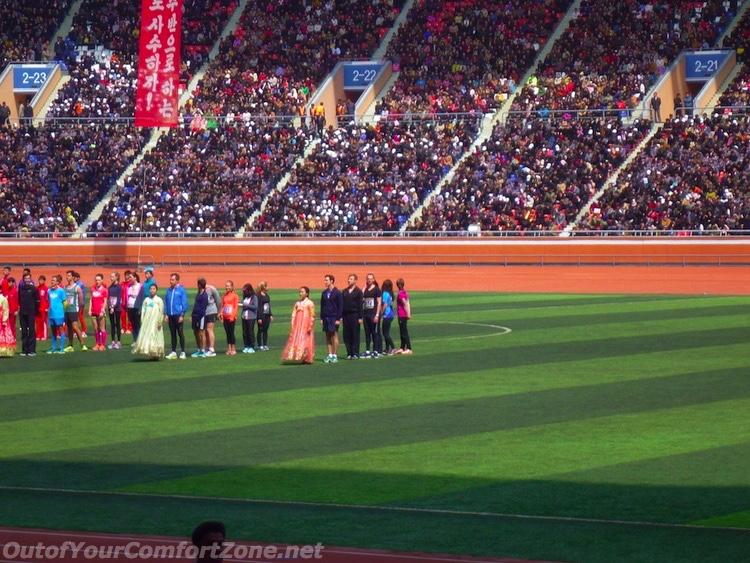 Pyongyang marathon 2016 May Day Stadium Award Ceremony