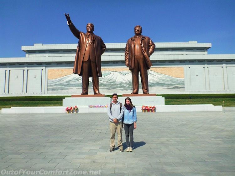 big bronze statues Kim il-Sung Kim Jong-il Pyongyang North Korea