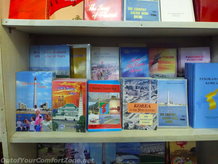 North Korean guidebooks English bookstore Pyongyang