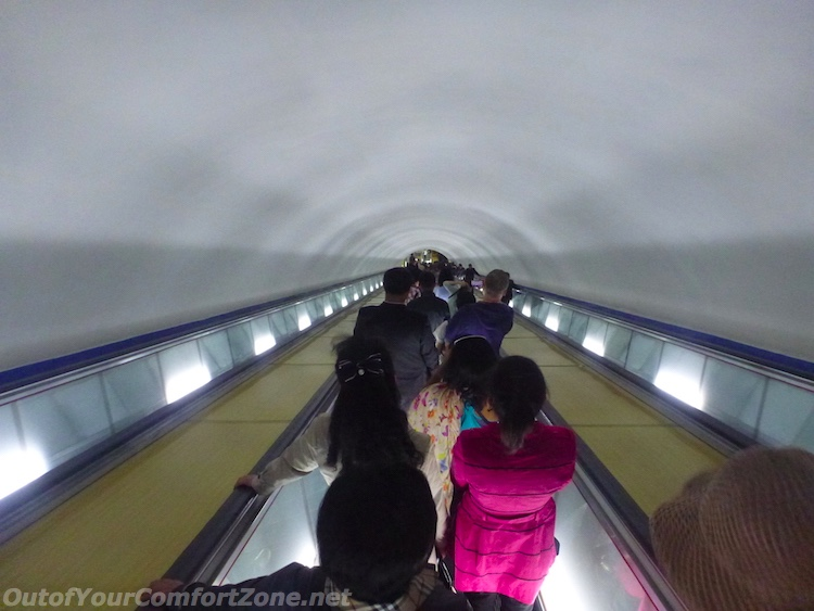 Deepest metro system in the world Pyongyang North Korea