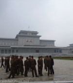 North Korea soldiers Kumsusan Palace of the sun mausoleum Pyongyang North Korea