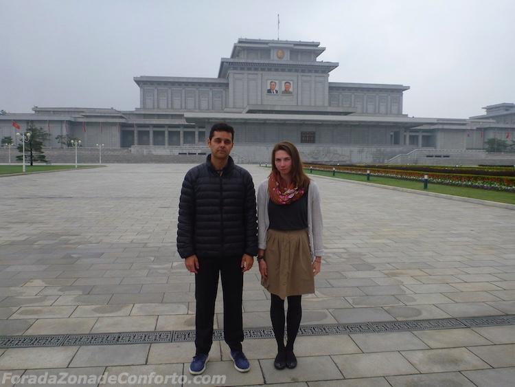 Vista Mausoléu Pyongyang Coreia do Norte