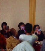 North Korea elite cell phones women