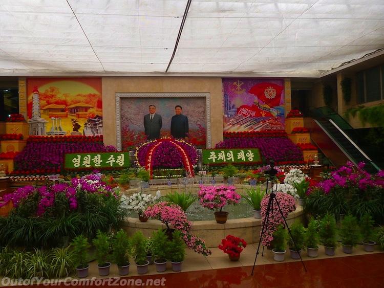 Kim il-Sung Birthday flower exhibition North Korea Pyongyang