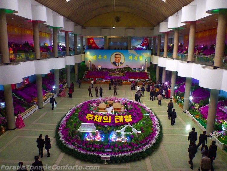 exposição de flores do aniversário de Kim il-Sung Coreia do Norte