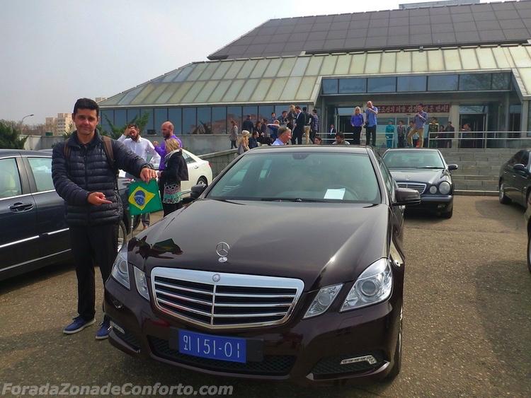 carro do embaixador brasileiro na Coreia do Norte