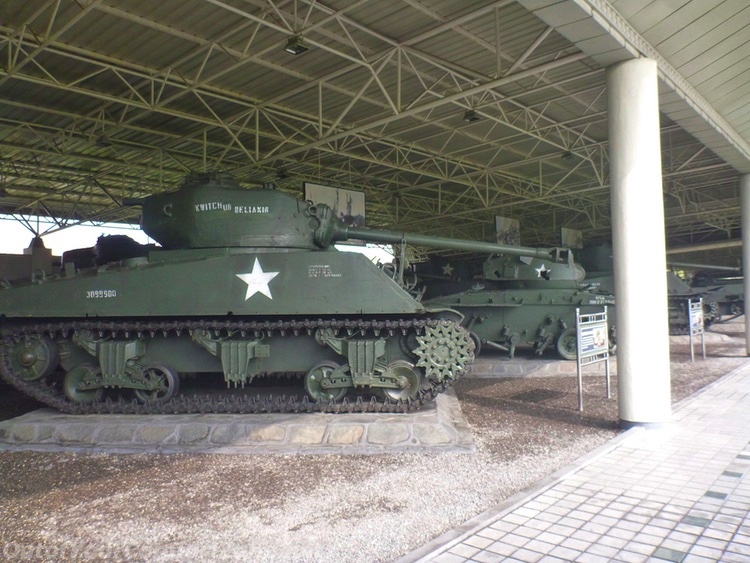 An American tank destroyed by the North Koreans and captured during the Korean War