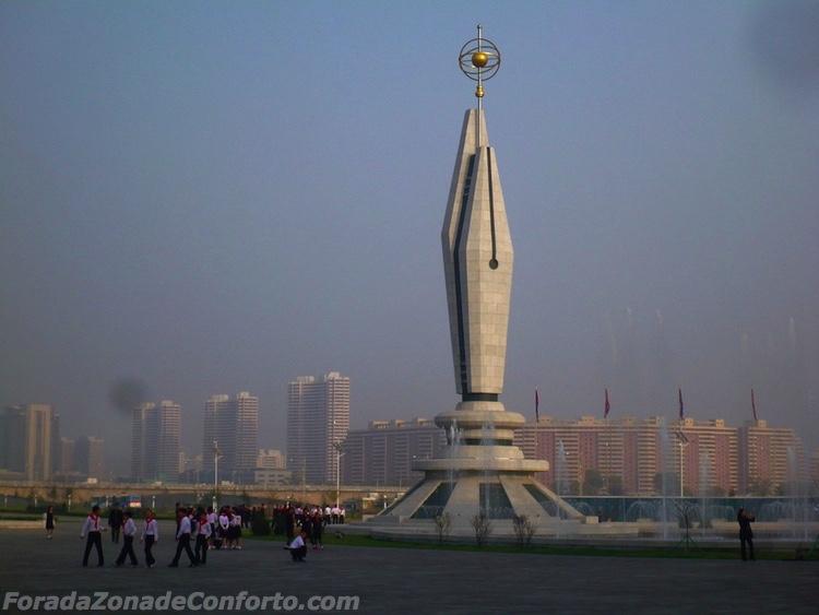 edifício de ciências e tecnologia Pyongyang Coreia do Norte