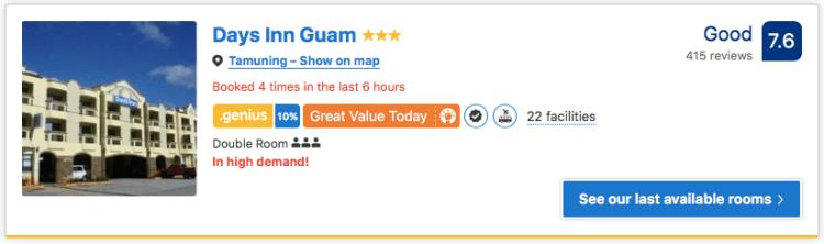 Good hotel Guam