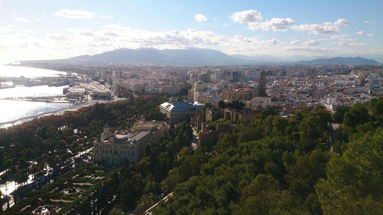 Malaga from a viewpoint