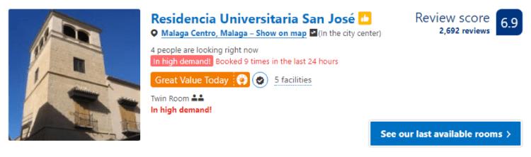 Cheap hotel Málaga