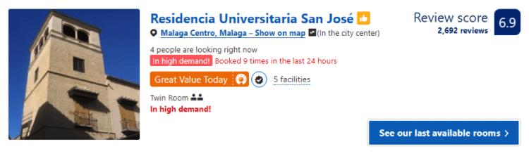 Hotel barato em Malaga