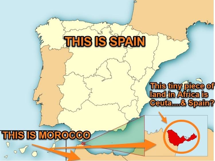 Is Ceuta Spanish Map