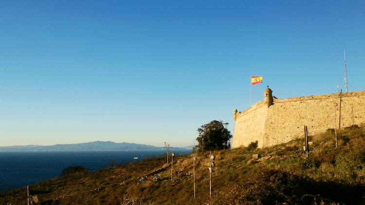 Spanish flag in Ceuta