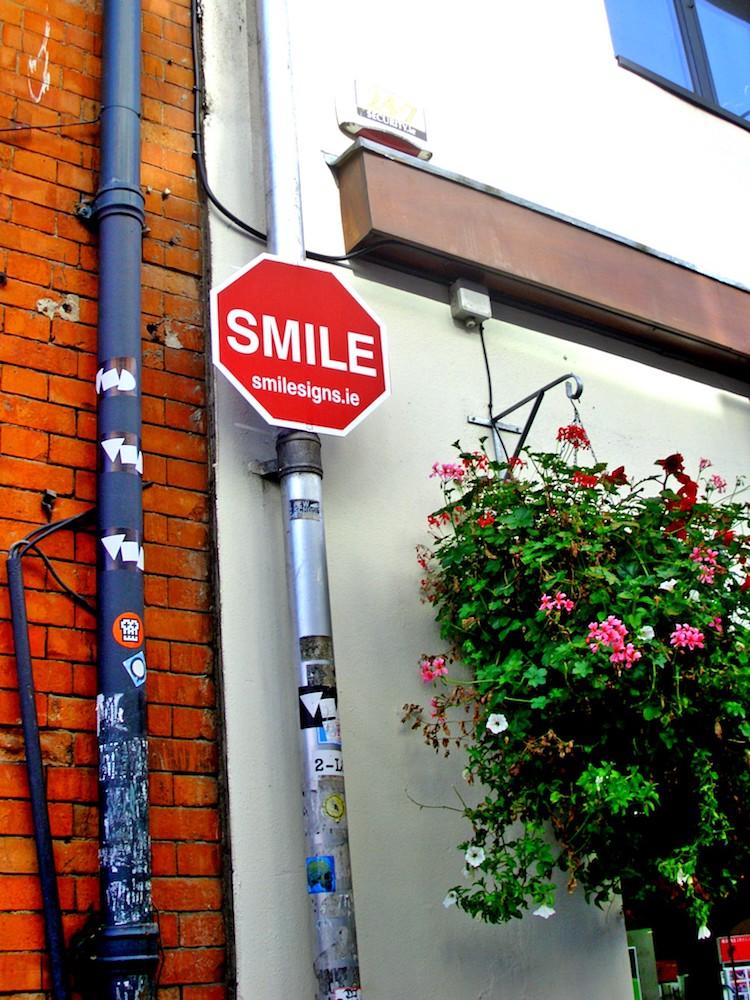 Placa para sorrir Irlanda