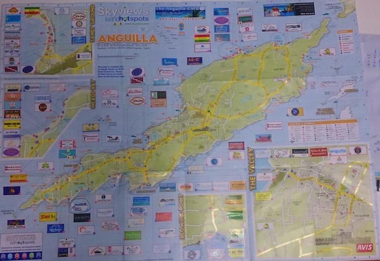 Mapa de Anguilla