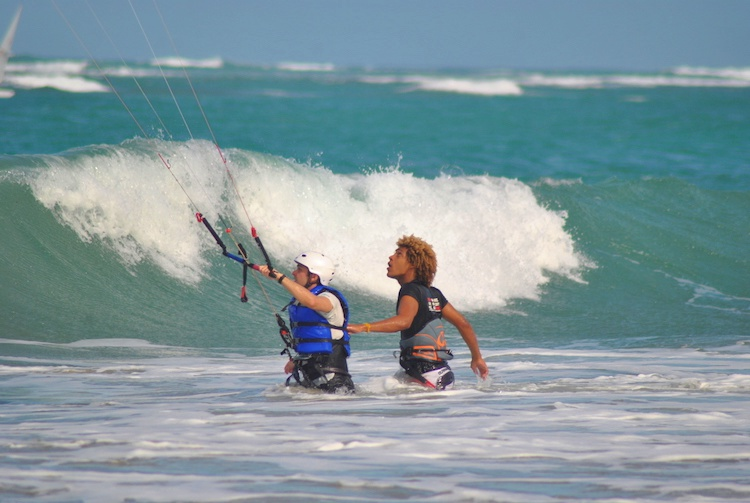Aprendendo Kitesurfing Cabarete 3
