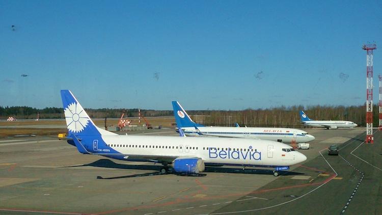 Belavia plane Belarus