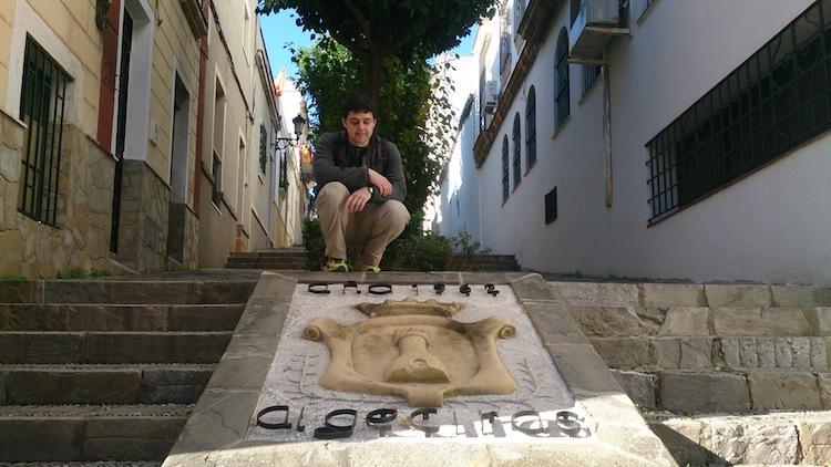 Algeciras Spain neighborhood San Isidro sign