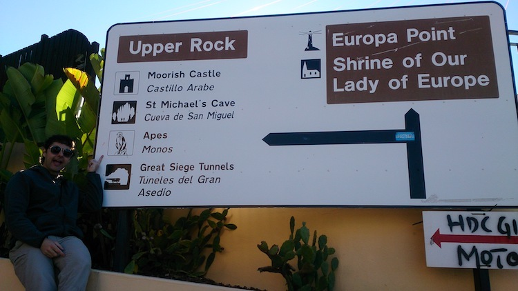 Gibraltar upper rock map sign