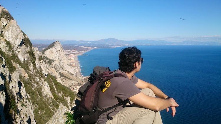 view from Gibraltar rock Mediterranean steps trail