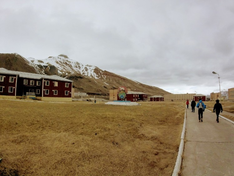 Abandoned building Pyramiden Svalbard Norway