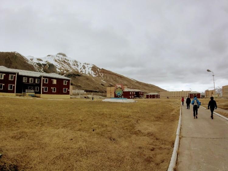 Abandoned building Pyramiden Svalbard Norway
