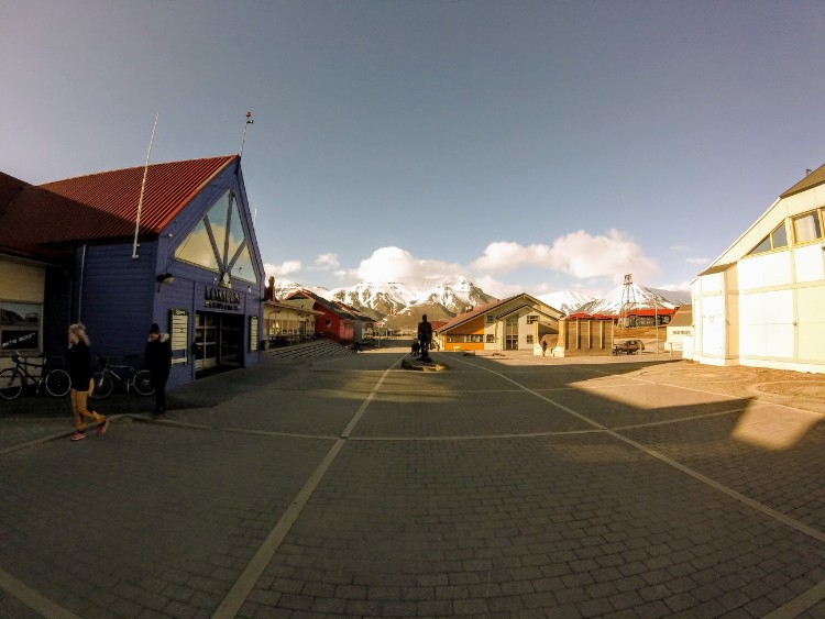 Svalbard Norway Longyearbyen center