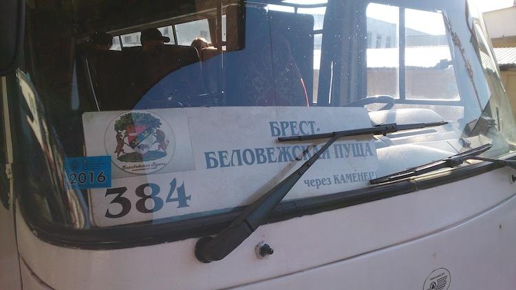 Belovezhskaya Pushcha National Park Bus Name 2
