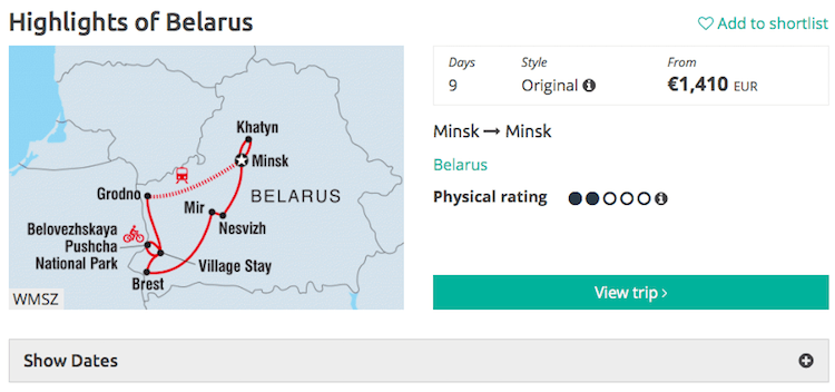 Intrepid Belarus tour