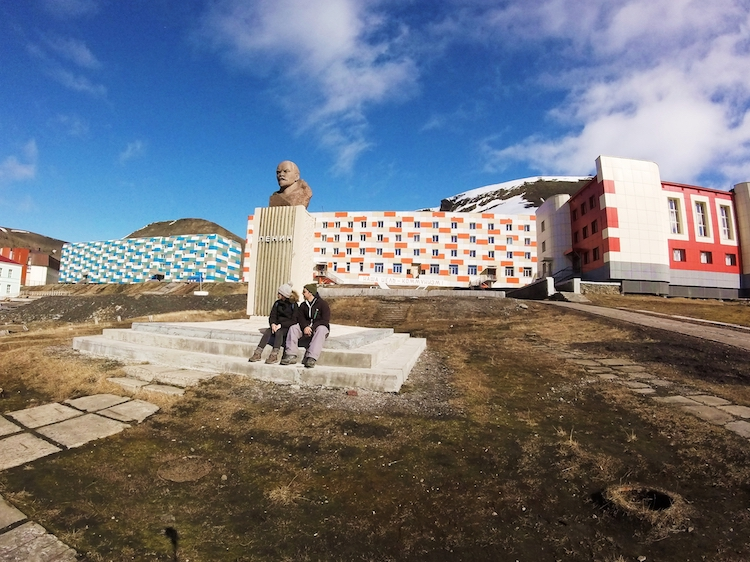A estátua de Lênin mais ao norte do mundo Svalbard