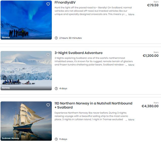 Best attractions in Svalbard
