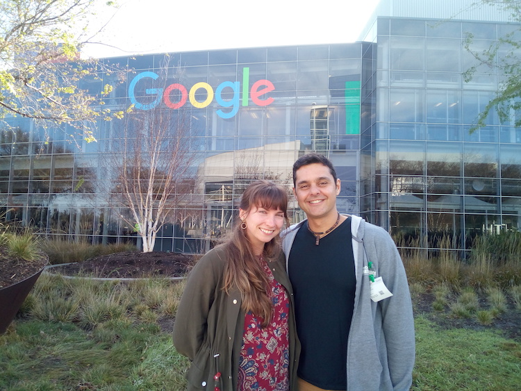 Visiting Google Office Mountain View
