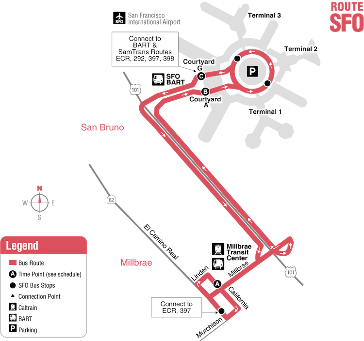 SFO bus to Silicon Valley