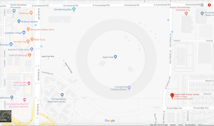 Apple Spaceship Map