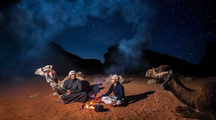 Night camping Wadi Rum