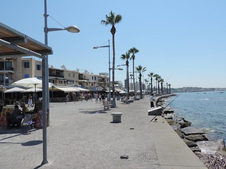 paphos promenade coastal walk cyprus