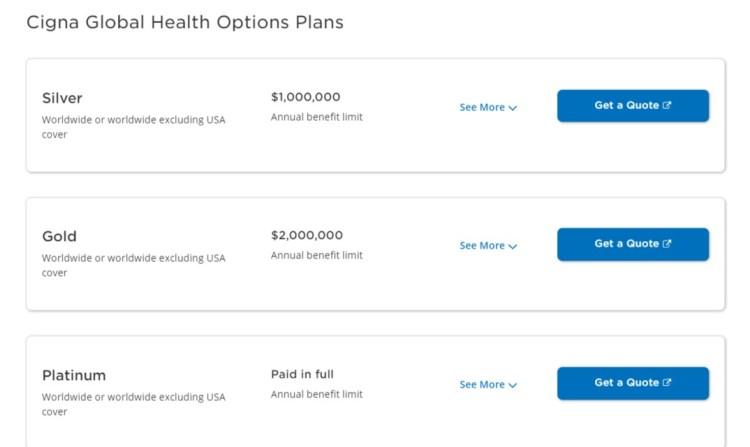 cigna International Health Insurance Plans