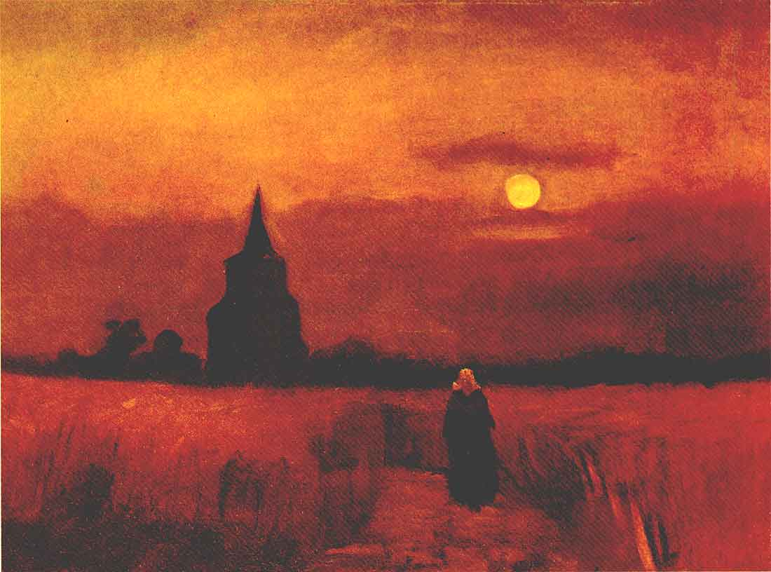 Van Gogh The Old Tower In The Fields Oil Painting Reproduction