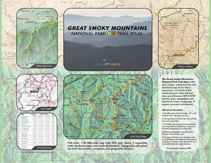 Great Smoky Mountains Trail Atlas