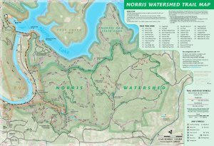 Norris Watershed Trail Map