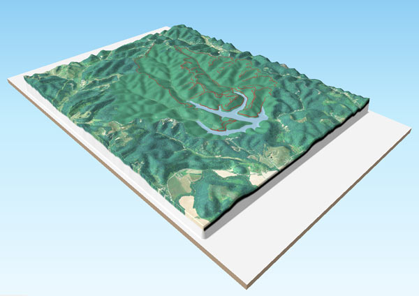 Example 3D map of Greenbo Lake State Resort Park