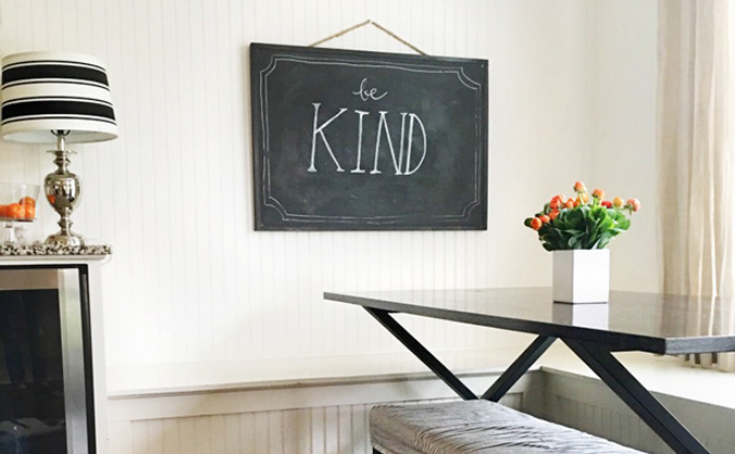 Learning how to be kind to myself - Jones Design Company A lesson we all need to learn.